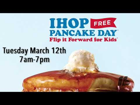 Zito and Kera - FREE PANCAKES From 7-7 At IHOP Today To Benefit Shriners