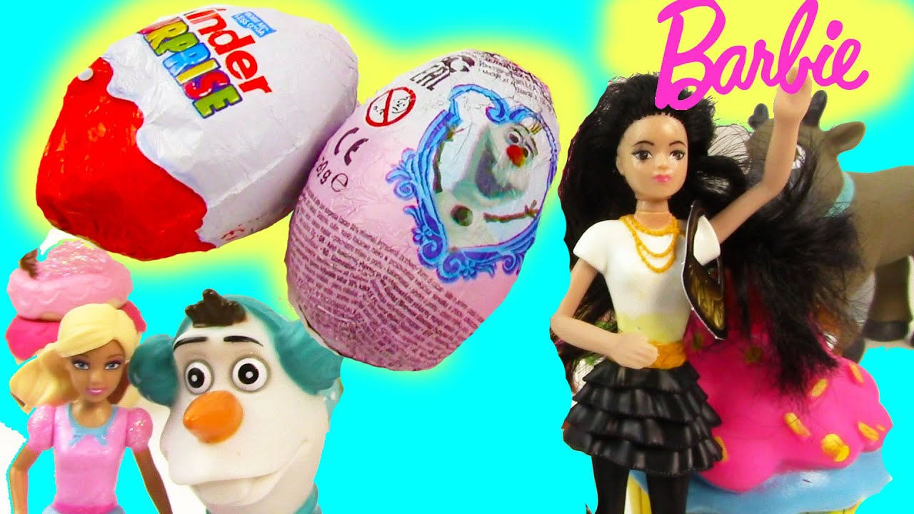 9883df593a Barbie Disney Frozen Kinder Surprise Mystery Eggs Life In The DreamHouse  Mcdonalds Toy