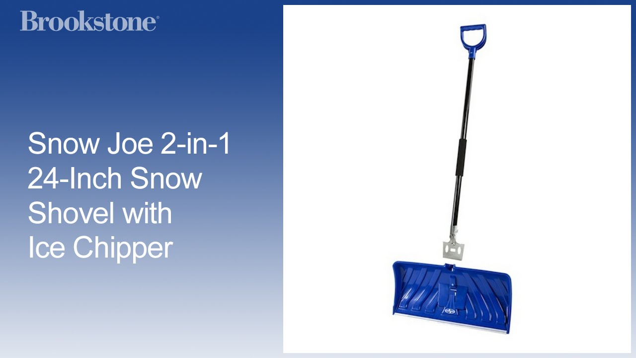 snow joe 2-in-1 24-inch snow shovel with ice chipper