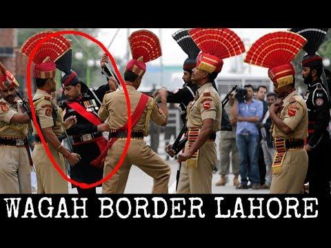 wagah border lahore fight scene