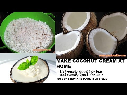 How to make Pure Coconut Cream at Home for Healthy Hair , Skin and Health | Priyanka George |