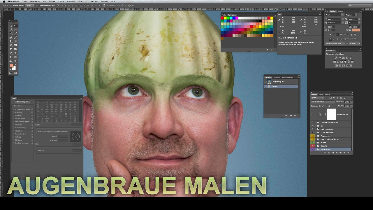 Photoshop haare malen tutorial