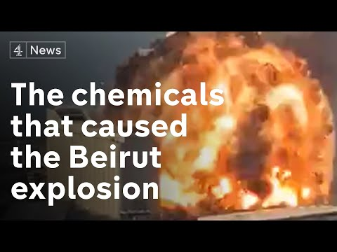 Which chemicals caused Beirut explosion?