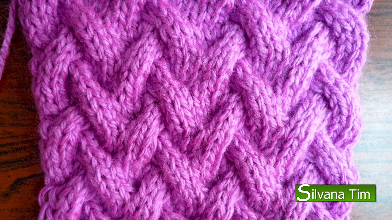 Punto canasta tejido con dos agujas 111 patterns - Tipos puntos dos agujas ...