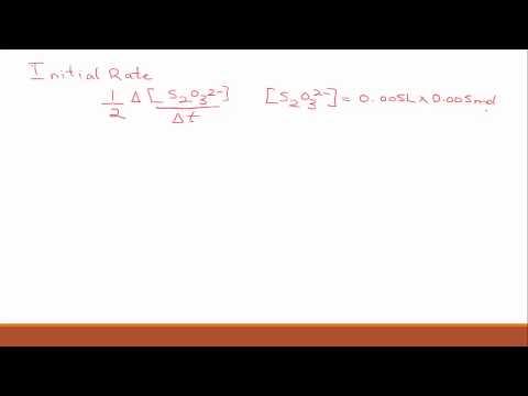 Experiment 4 Kinetics Calculations