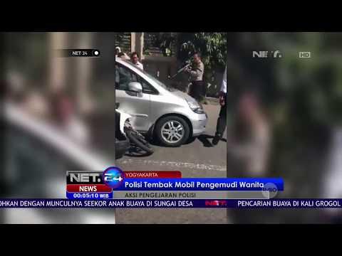 Polisi Tembak Mobil Pengemudi Wanita Karena Tidak Mau Diperiksa - NET24