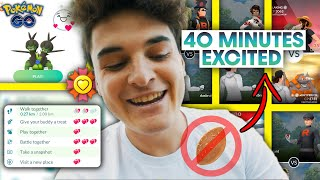 *35-40 MINUTES* EXCITED BUDDY *WITHOUT POFFIN* in POKEMON GO | WORLD RECORD EXCITED BUDDY SPEED!