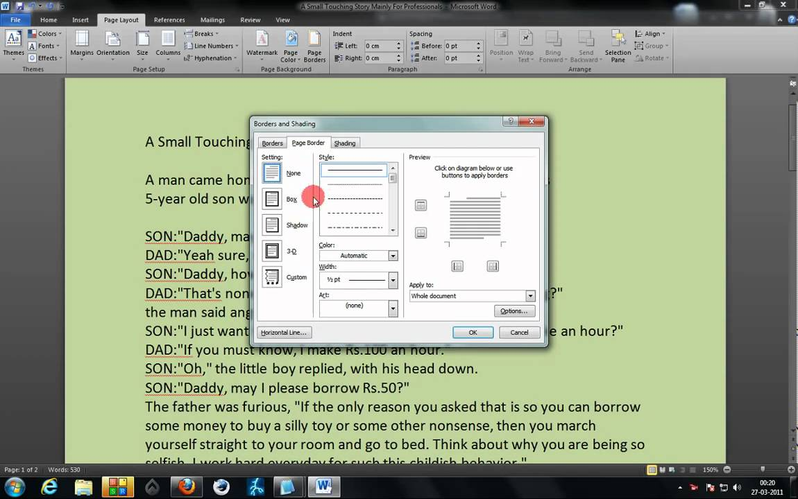 Add Background Color To Word 2007 2010 Documents Step By Tutorial