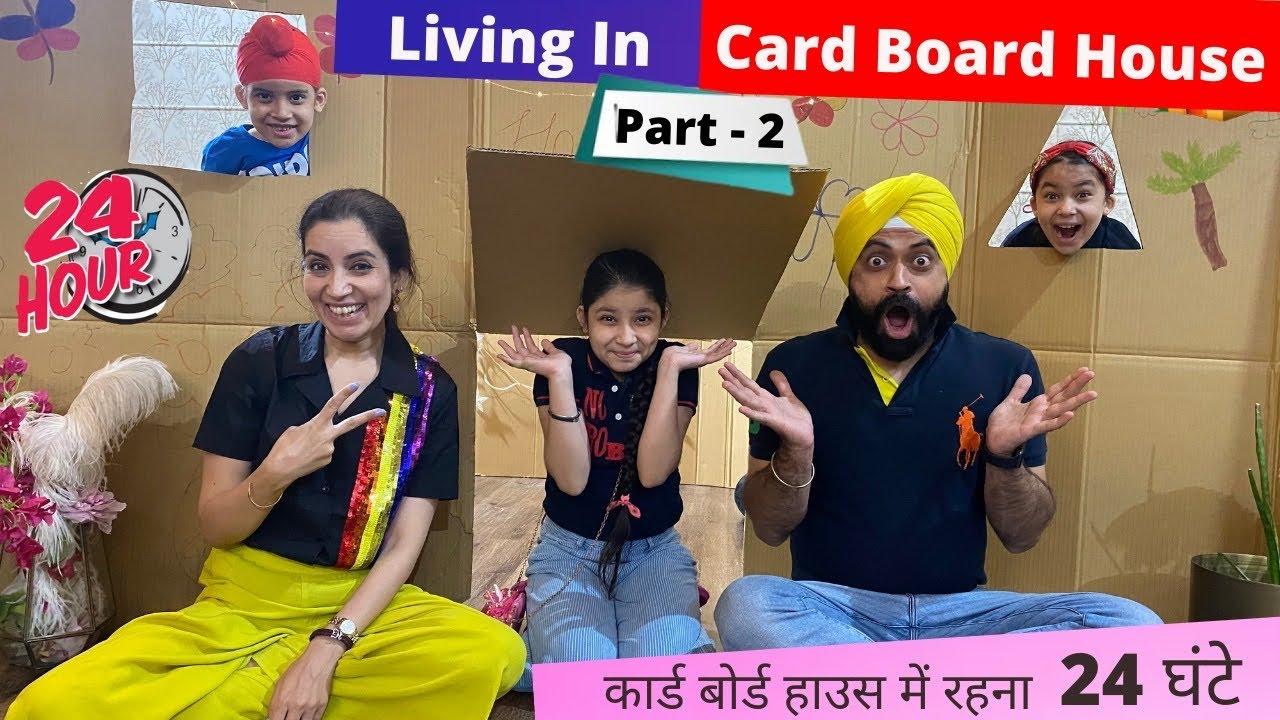 Living In Card Board House - 24 Hours - Part 2 | Ramneek Singh 1313 | RS 1313 VLOGS