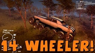 Spin Tires | The Unstoppable 14 Wheeler! | Download Link In Description