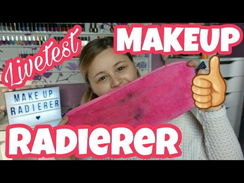 MAKE UP RADIERER - Livetest - Abschminken nur mit WASSER - YouTube