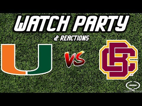 Miami vs Bethune-Cookman   Watch Party & Reaction   NOT THE GAME!