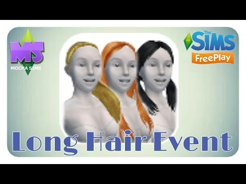 The Sims Freeplay Long Hair Event Youtube