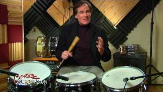 Three Vintage Rogers Snare Drums Demo Powertone Dynasonic