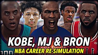 LEBRON, JORDAN & KOBE'S CAREER RE-SIMULATION AS 2020 ROOKIES. | CHANGING THE NBA FOREVER | NBA 2K20