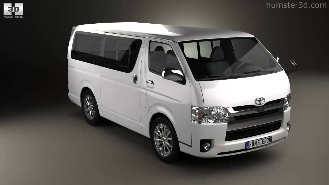 toyota hiace lwb combi 2013 by 3d model store humster3d com