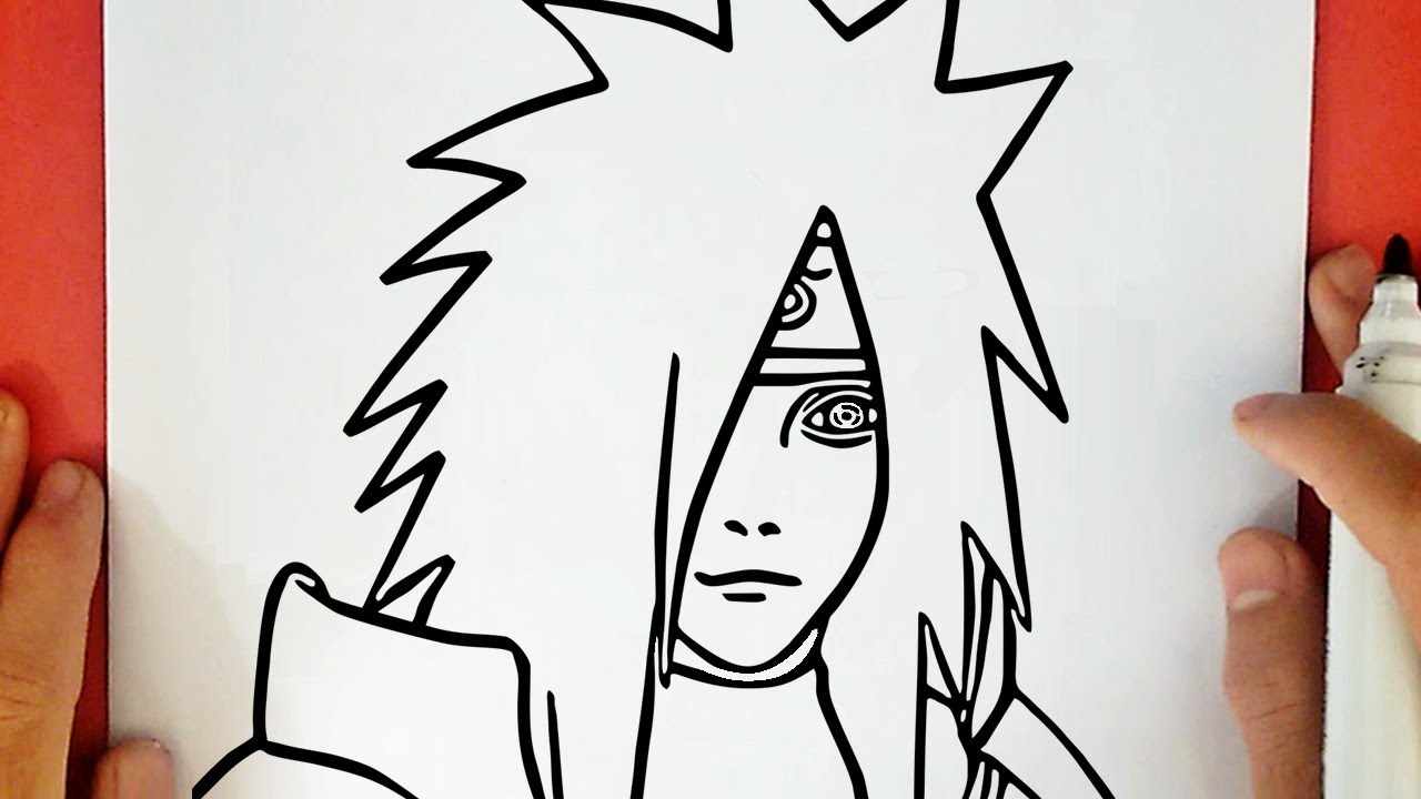 HOW TO DRAW MADARA UCHIHA FROM NARUTO - YouTube