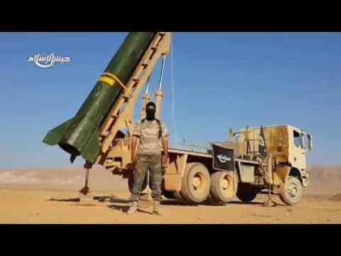 Jaish al-Islam releases footage of Zelzal-2 'Maysalun' artillery rocket launch