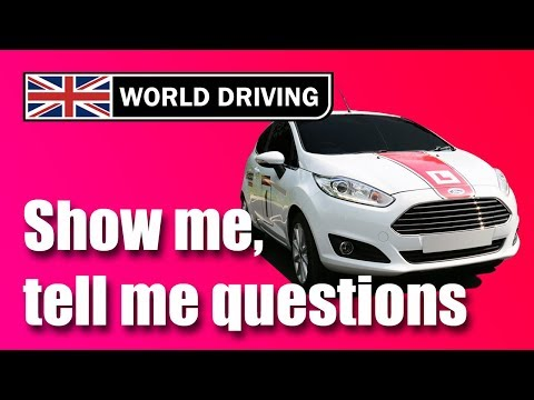 Show me, tell me questions 2017/18: UK driving test questions