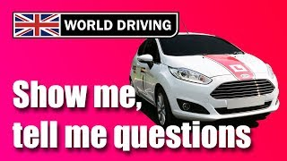 NEW! Show Me, Tell Me Questions 2019: UK driving test questions