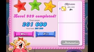 Candy Crush Saga Level 929     ★★★   NO BOOSTER