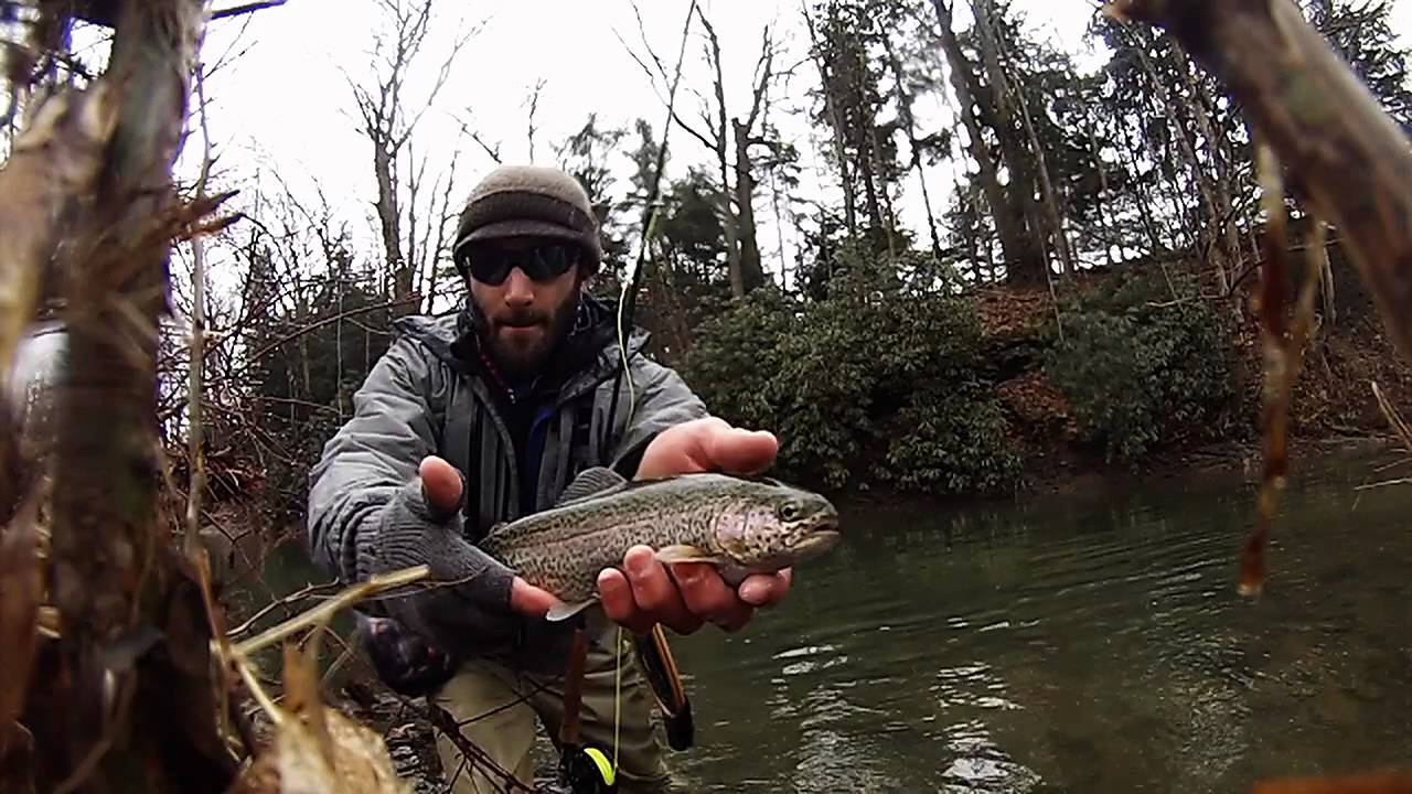 Winter fly fishing loyalhanna creek pa youtube for Pa out of state fishing license