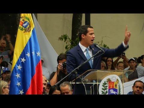 """Guaidó convocó """"a la marcha más grande"""" en la historia de Venezuela"""