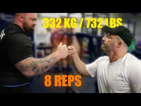 Hafthor Bjornsson | LAST HEAVY SQUAT SESSION BEFORE WSM 2019 | 332kg / 732lbs for 8 reps. 2 sets
