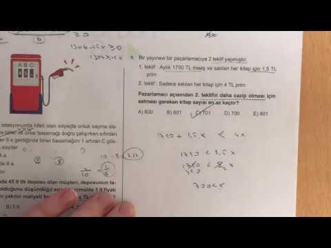 345 TYT Matematik Sayı Problemleri Ösym-6 Çözümleri (2018-2019 Basım)