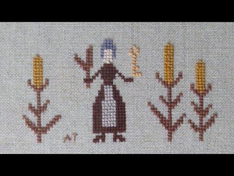 Вышивка крестом. Примитив //The mother of the harvest // Оформленная работа