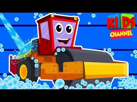 Road Roller | Car Wash | Video For Kids | Vehicles for children | street vehicles |