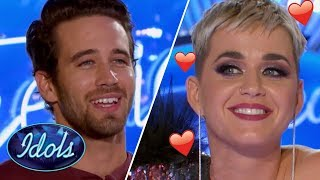 KATY PERRY Falls In LOVE With Trevor Holmes On American Idol 2018 | Idols