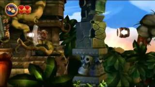 Donkey Kong Country Returns - World 1-5: Canopy Cannons