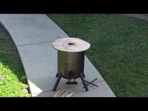 How to build a rocket stove from a propane tank youtube for Make a rocket stove