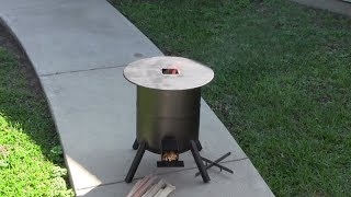 How to build a propane tank rocket stove