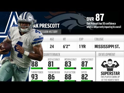 What if Dak Prescott was Drafted By The Denver Broncos! Madden 18 Franchise Experiment!