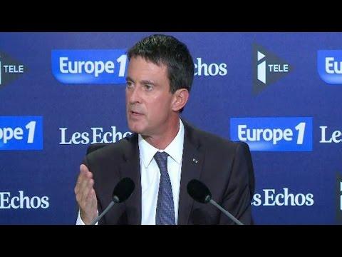 """Pour Manuel Valls, François Hollande """"n'a pas à rougir"""" de son bilan"""