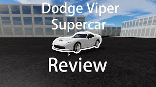 Dodge Viper Supercar Review in Vehicle Simulator (ROBLOX)