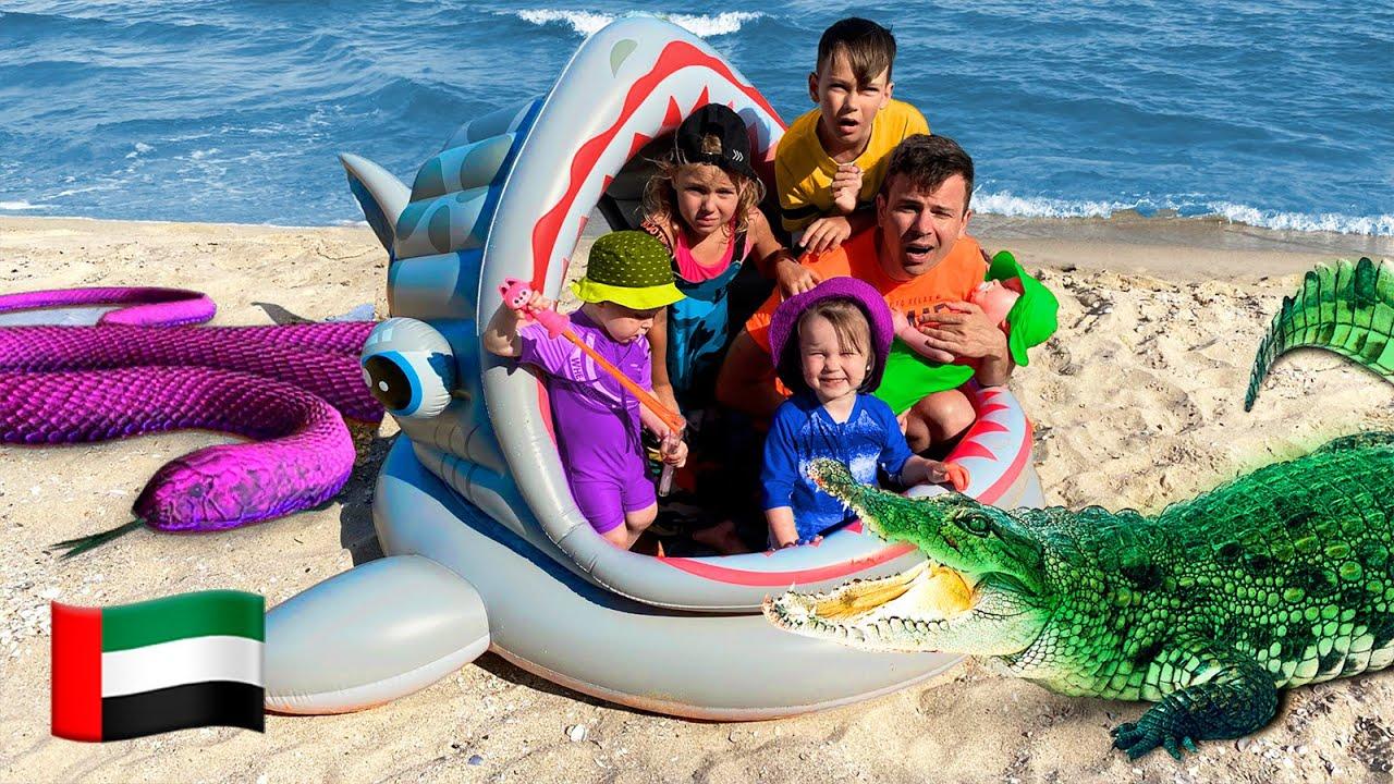 خمسة أطفال مغامرة على الشاطئ مع أبي | قصة اطفال