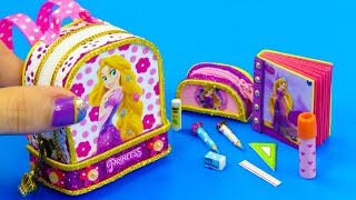 DIY Miniature Rapunzel School Supplies ~ Backpack, Notebook, Pencil Case #2