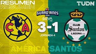 Resumen y goles | América 3-1 Santos | Guard1anes 2020 Liga BBVA MX - J4 | TUDN