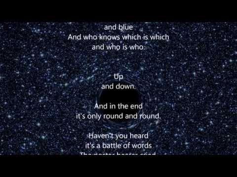 "Pink Floyd - Us And Them - HQ - Scroll Lyrics ""22"""