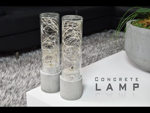 DIY Concrete Lamp | LED String Lights