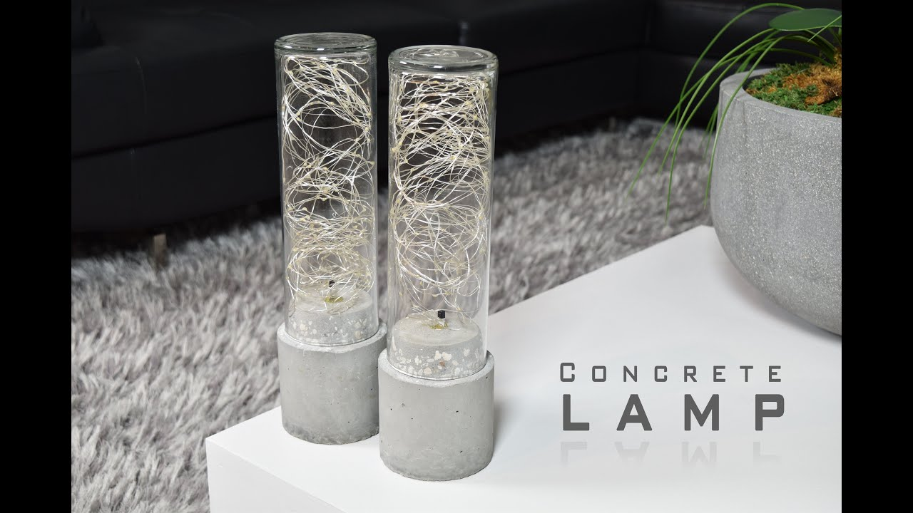 DIY Concrete Lamp | LED String Lights - YouTube