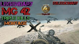 MG42 & Support Armor - Triple Kills Montage ☆ World War Heroes