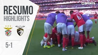 Highlights   Resumo: Benfica 5-1 Portimonense (Liga 18/19 #32)