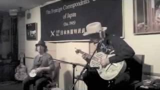 """Rambling Steve Gardner & Samm Bennett """"Careless Love"""" LIVE FCCJ TOKYO 2011"""