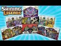OPENING EVERY SHINING LEGENDS POKEMON BOX!!!   TONS OF POKEMON CARDS!