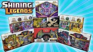 OPENING EVERY SHINING LEGENDS POKEMON BOX!!! | TONS OF POKEMON CARDS!