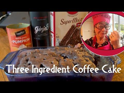 THREE INGREDIENT COFFEE CAKE